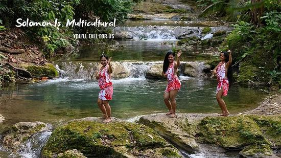 所罗门群岛发布的旅游宣传图