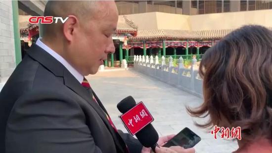 香港警察郭德辉。来源:中新视频截图