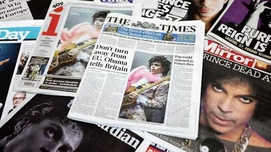 《泰晤士報》和其他報刊/推特截圖