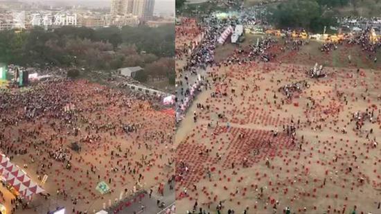 蔡英文在台南为选举造势 空拍画面惨不忍睹图片