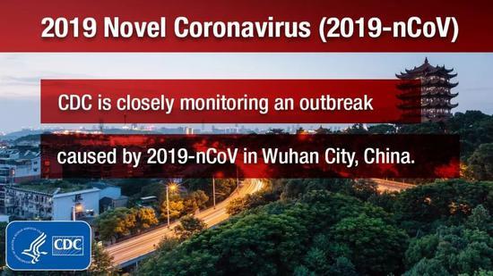 美国疾病控制与预防中心在推特发文,严密监控新型冠状病毒。/CDC推特