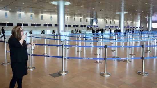 空空荡荡的以色列本古里安国际机场 摄影|<img src=