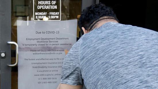 疫情期间美国加州失业人数达160万 超15万人申请失业引关注