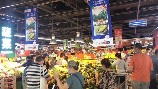 北京商超全链条助防控,蔬菜锁价肉类测核酸图片