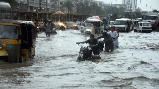巴基斯坦卡拉奇季风强降雨将结束 3天致22人死亡