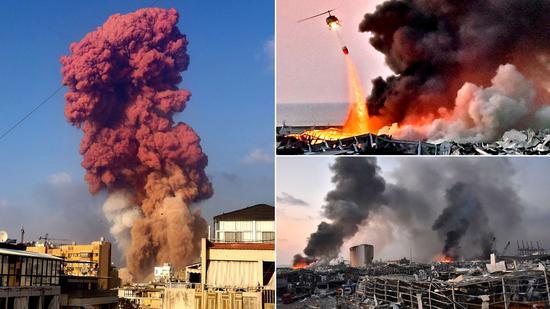 爆炸现场(图源:Getty)