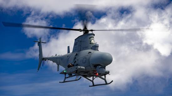 又出事!美军一架MQ-8B无人机在基地内坠毁