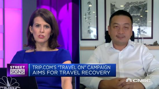CNBC采访梁建章 视频截图
