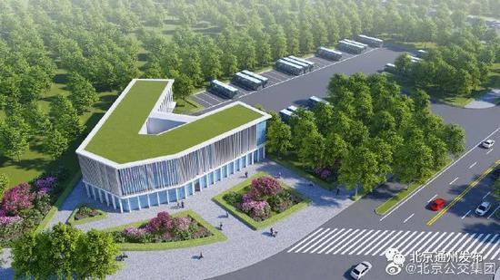 北京城市副中心这个公交中心站正式开工,计划运营47条公交线图片