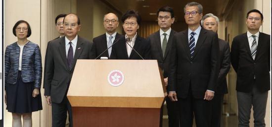 香港福建社团联会集体发声:支持林郑 坚决挺警|暴力