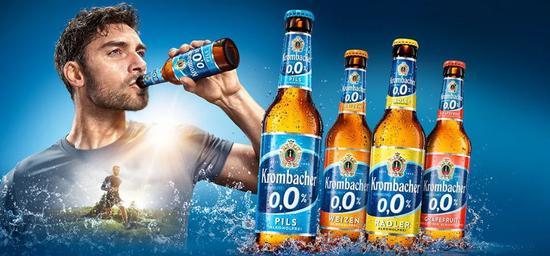 """德国一个啤酒品牌推出的无醇啤酒,以""""动感十足,补充体液,清新爽口""""为广告语。图片来自网络"""