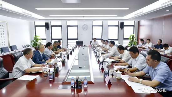 吉林省政府与工信部举行工作会谈。来源:吉林发布