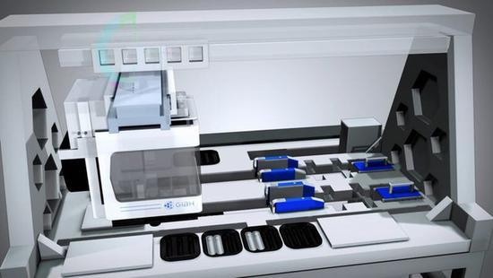 图为全自动干细胞诱导培养设备操作台 中科院供图