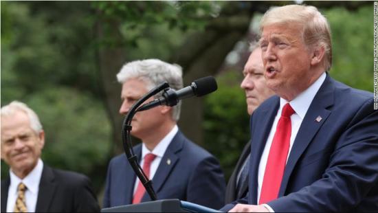 特朗普宣布美国退出世卫组织