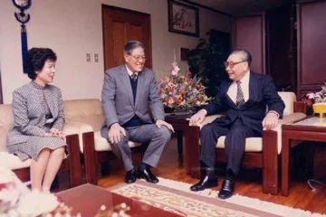 李登辉夫妇与蒋经国。