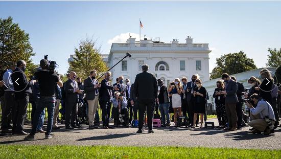 白宫瞒报病情?美媒曝白宫官员上月确诊新冠 病情严重