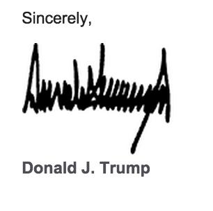 """特朗普为何酷爱""""晒签名"""" 背后这层含义你知道吗"""