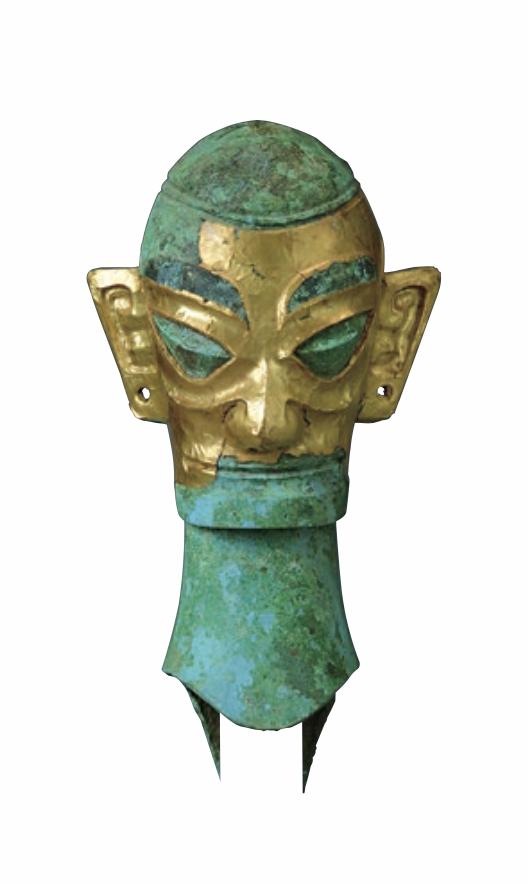 黄金面罩青铜人头像 广西师范大学出书社 图