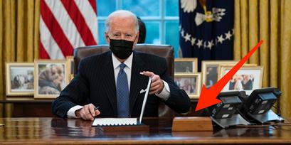 白宫办公室趣事:特朗普最喜爱的可乐按钮又回来了