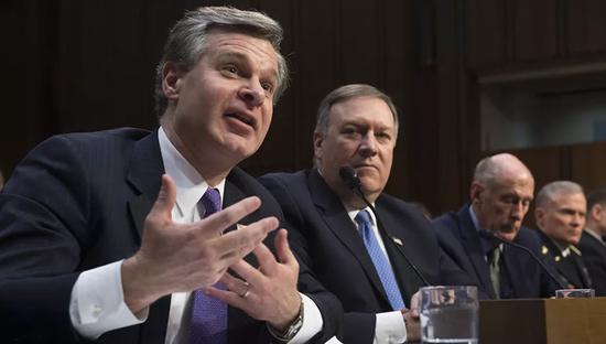 2月13日,美国六大情报机关负责人在参议院呼吁美国人抵制中兴和华为产品
