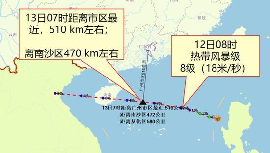 广州:16号台风逼近!明天中午到后日中午强降雨影响最大图片