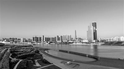 图为位于天津市滨海新区海河北岸的于家堡金融区。 记者 白禹 摄