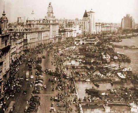 ▲上世纪20年代的上海