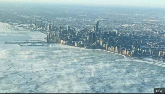 ▲芝加哥目前的溫度已經降到歷史最低。圖自:BBC