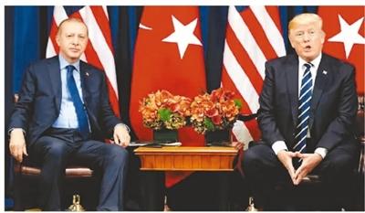 图为2018-10-16联合国大会期间,美国总统特朗普与土耳其总统埃尔多安会面。(资料图片)