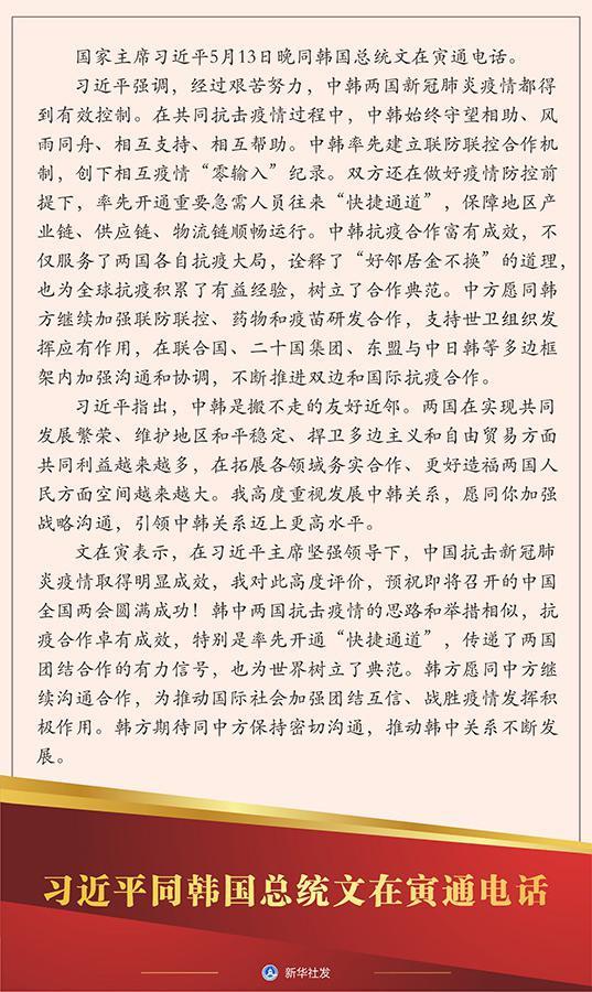 习近平同韩国总统文在寅通电话图片
