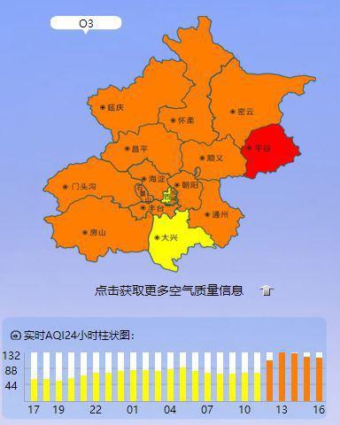 北京明起连迎四天空气污染 周五污染浓度升高图片