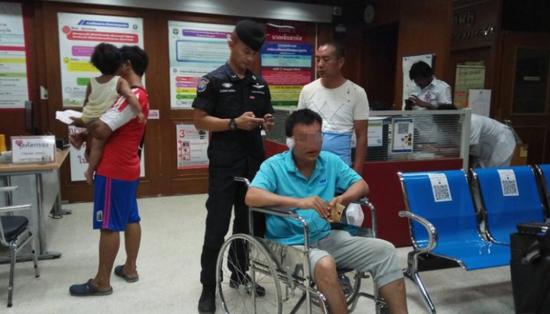 受伤的中国游客(民族报)