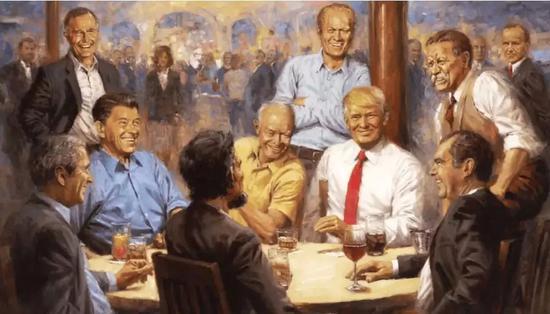 ▲被挂在特朗普办公室的新作 图据美国《时代》杂志