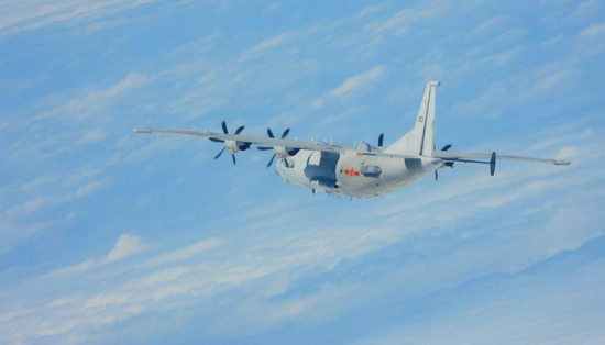 绿媒数:解放军一架运-8技术侦察机进入台湾西南空域