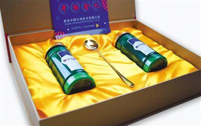 """青岛中腾生物技术有限公司官方网站发布的""""量子饮粒""""产品图片。官网截图"""