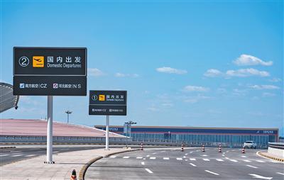 年夜兴国际机场动身仄台。拍照/新京报记者 陶冉