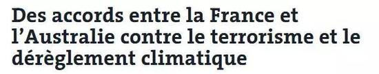 ▲法国《世界报》网站报道截图
