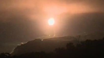 """台""""中科院""""24日晚间试射导弹。图源:台湾""""三立消息网"""""""