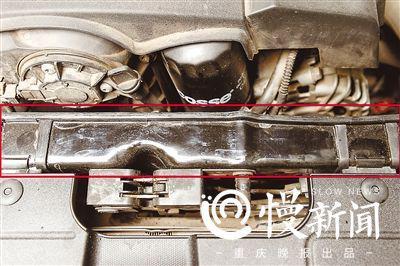 刘女士认为车辆的前端框架支架做工十分粗糙