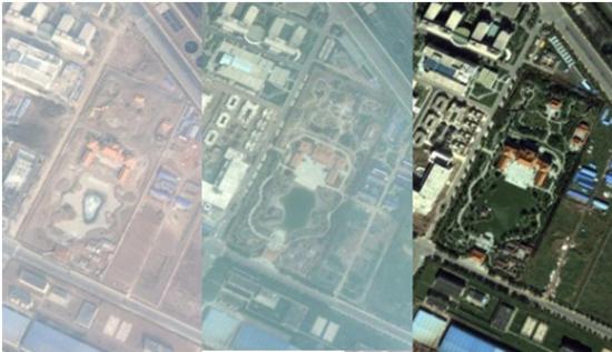 据此可知,华堂的建成时间在2011至2012年之间。