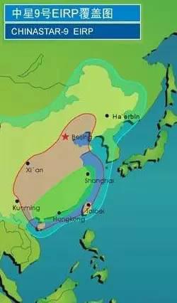 中星9号直播卫星覆盖图