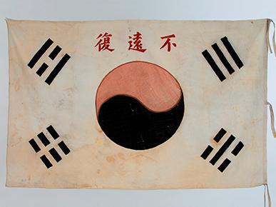 印有汉字的太极旗