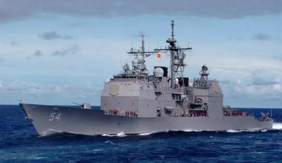 """▲上图:""""希金斯""""号导弹驱逐舰;下图:""""安蒂塔姆""""号导弹巡洋舰"""