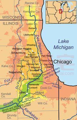图为芝加哥地理区位