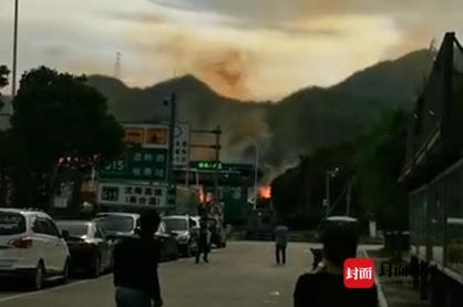 浙江温岭槽罐车爆炸事故亲历者:罐车被炸飞,砸中居民楼图片