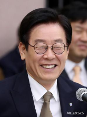 韩国京畿道知事李在明(纽西斯通讯社)
