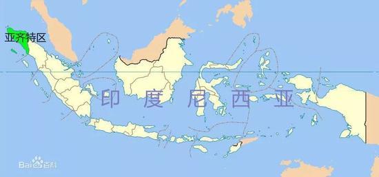 ▲亚齐所在的位置(图via百度百科)