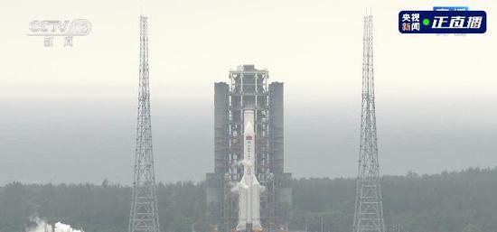 空间站天和核心舱发射升空!图片