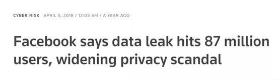 ▲据媒体称,数据遭泄露的脸书用户多达8700万 (标题via Reuters)