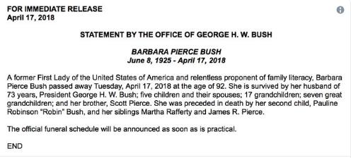 小布什声明